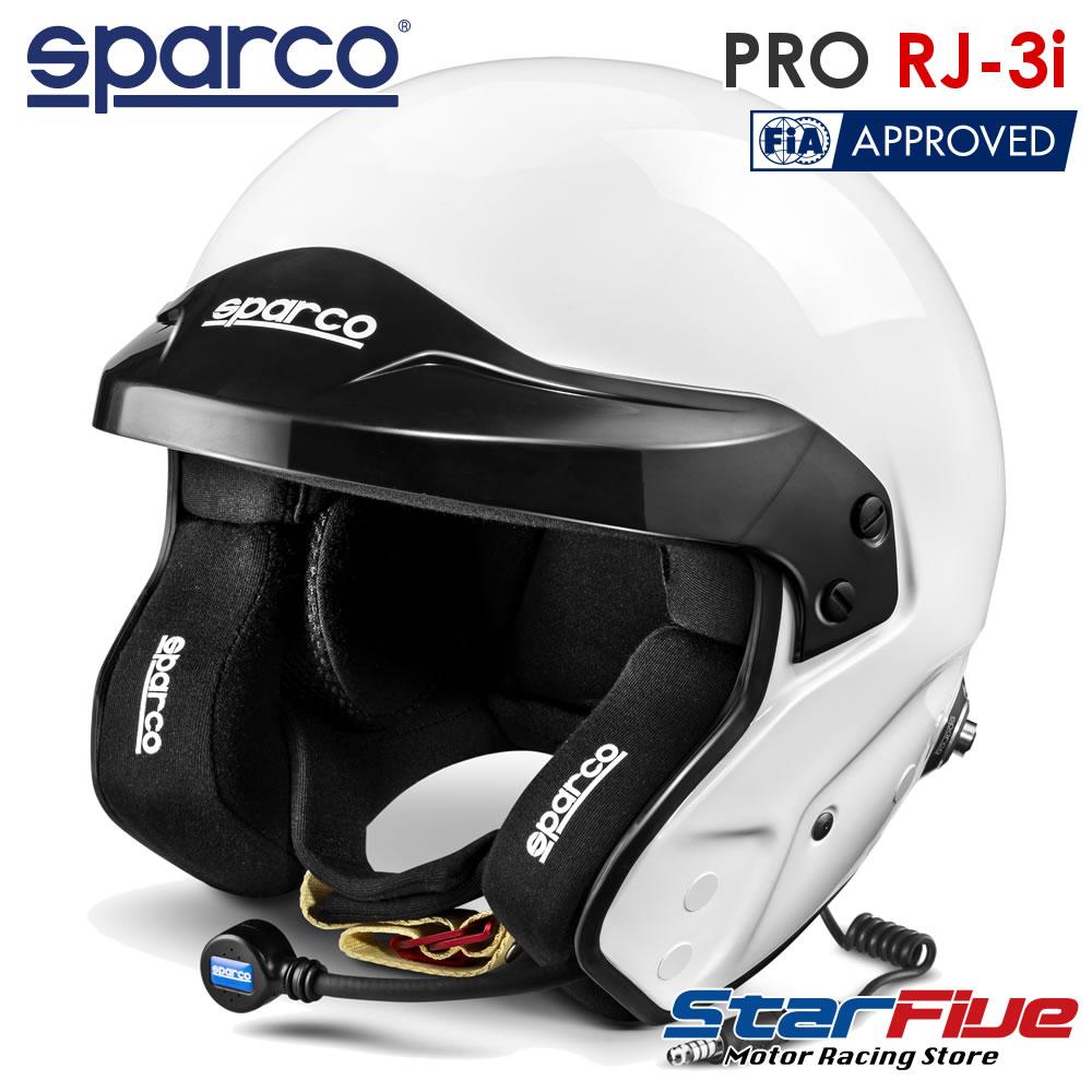 スパルコ ジェットヘルメット PRO RJ-3i 四輪用 インターコム付き FIA8859-2015公認 Sparco(2020年モデル)