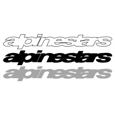 文字だけが残る抜き文字ステッカー alpinestars アルパインスターズ 訳あり品送料無料 Sサイズ ロゴステッカー 品質検査済
