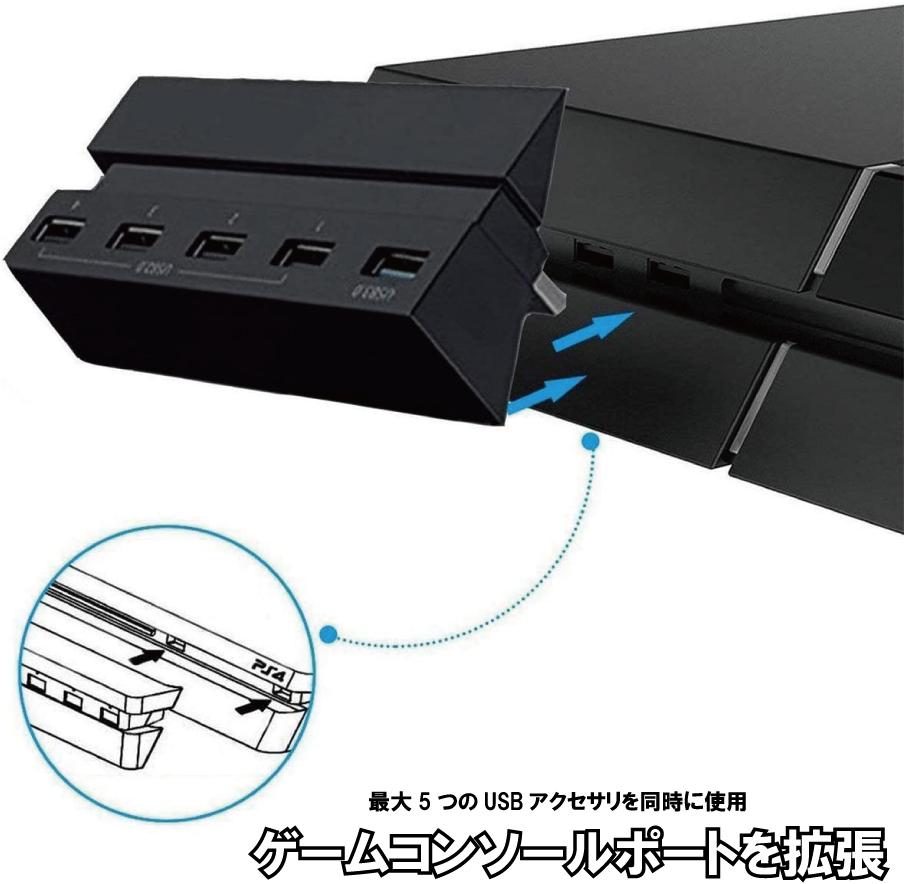 特別に設計され PS4に完全にフィットします 必要なドライバはなく プラグアンドプレイだけです 大還元クーポン 35%OFF PS4 USB 3.0 PS4コンソール用 5ポート 高速充電器コントローラスプリッタ拡張 新商品 新型 HUB PlayStation 4 送料無料