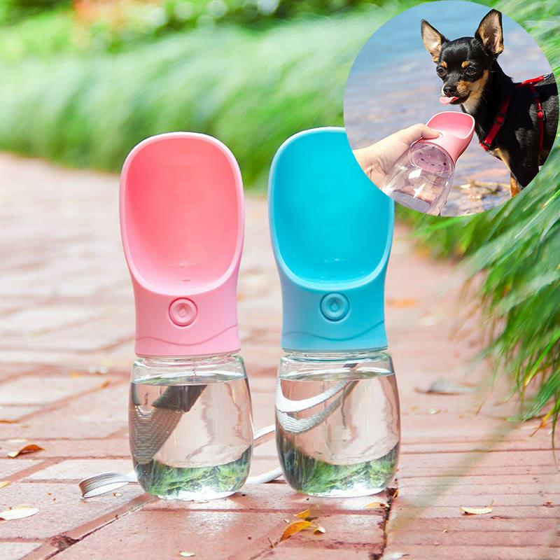 ワンタッチで簡単水飲み お散歩の必需品 大還元クーポン ウォーターボトル 売却 携帯水筒 散歩 水飲み 送料無料 給水 犬 1年保証 ペット用品