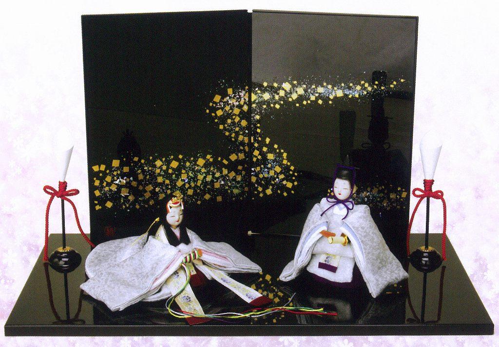 雛人形 ひな人形 ちりめん 親王飾り 「凛音雛」 1-453 コンパクト飾り ちりめん雛 縮緬 【
