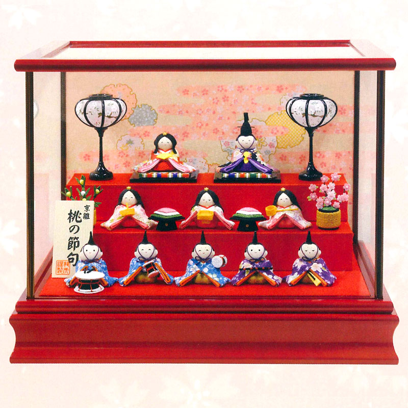 "Kyoto crepe made ""healthy lad Hina 10 dolls set including case ornament"" 1-773"