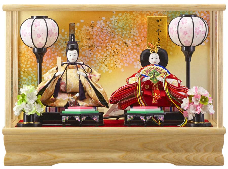 【雛人形 ケース飾り ひな人形】 みゆき豆親王飾白 163-208 【smtb-s】