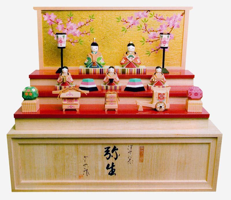 正規代理店 雛人形 「弥生」 ひな人形 雛人形 木彫り人形 木彫り人形 収納飾り南雲 「弥生」 NU-309【smtb-s】, カワグチシ:3f5e59fe --- canoncity.azurewebsites.net
