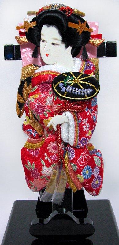 【94】【羽子板 初正月 単品 羽子板飾り】 押絵羽子板 9号 姫振袖 「藤娘」[飾り台なし]