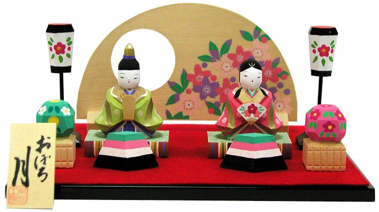雛人形 ひな人形 木彫り人形 南雲 「おぼろ月」 NU-328【smtb-s】