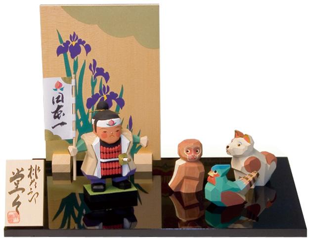 五月人形 木彫り人形 南雲 「桃太郎 堂々」 NU-517【smtb-s】