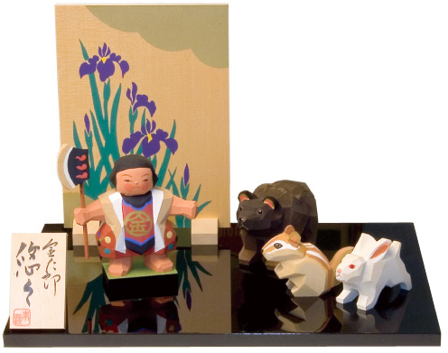 五月人形 木製 木彫り人形 南雲 「金太郎 悠々」 NU-516 【smtb-s】