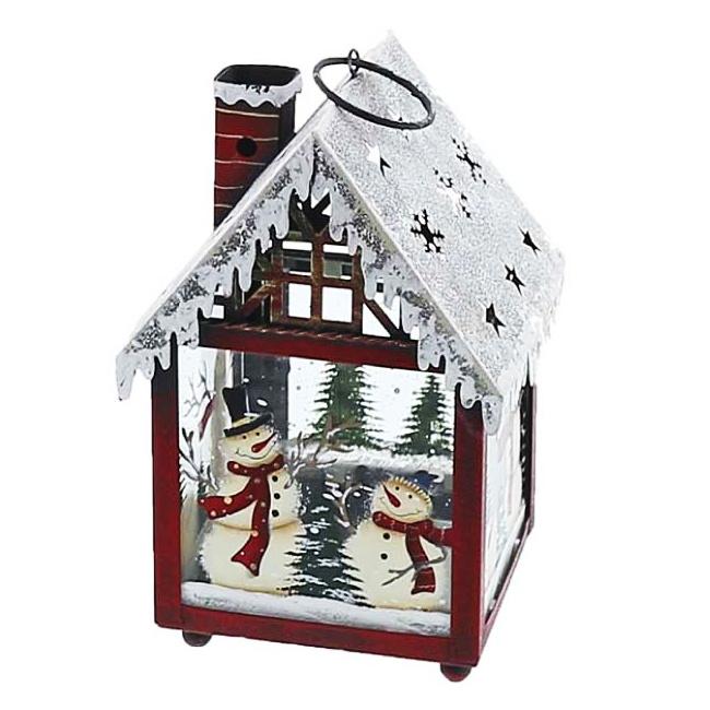 [XSクーポン]クリスマス 飾り 光る led ランタン [クリスマスランタン] [XKL037] LEDライト付 高さ21cm [灯り モノトーン スノーマン 雑貨 北欧 置物 インテリアライト オブジェ パーティー グッズ 雪だるま トナカイ X'mas christmas]