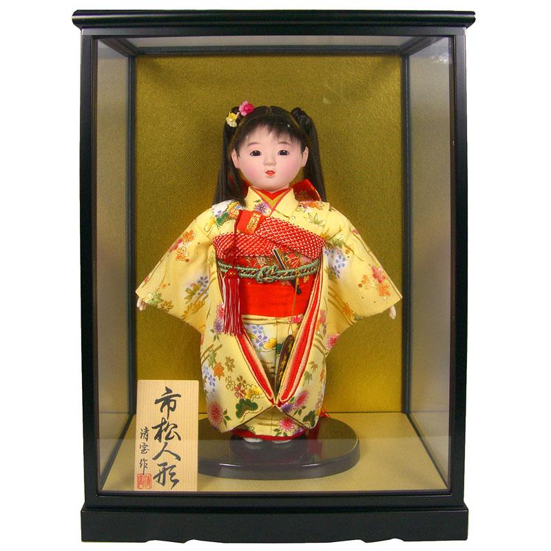 【日本人形 ケース飾り 市松人形】 【34】ケース入り人形 「市松」 10号 【訳あり品 アウトレット】
