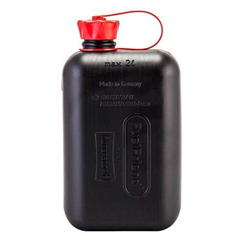 ドイツ製 ガソリン オイル 携行缶 ジェリ缶 燃料 ボトル ポリタンク サイドバッグ バイク 予備 Black 2L 車載 アウトドア 人気の定番 タンク UNEG 車 国連規格 全国一律送料無料