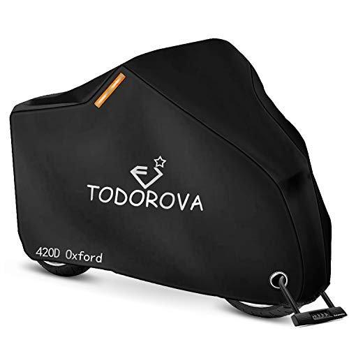 TODOROVA 自転車カバー 防水 420Dオックス製生地 厚手 自転車 カバー 軽量 サイクルカバー 超安い 盗難防止 お値打ち価格で 最大サポート29インチ 50UVカット 収納袋付き 風飛び防止