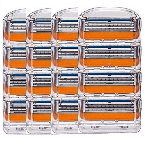 ジレット フュージョン用 替刃 互換品 4セット マート 16個 髭剃り パワー Fusion 替え刃 Gillette オレンジ 新商品 プログライド