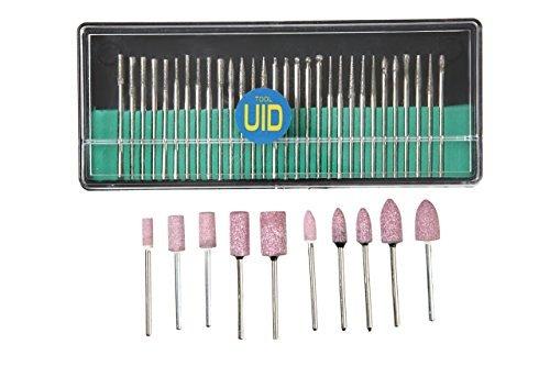 UID 供え 2.35mm軸 40PCS セット ミニルーター ルーター リューター プロクソン ペンルーター用 NO.817 期間限定送料無料 PROXXON 軸付砥石 ダイヤモンドビット 標準マンドレルサイズ2.35mm軸径対応