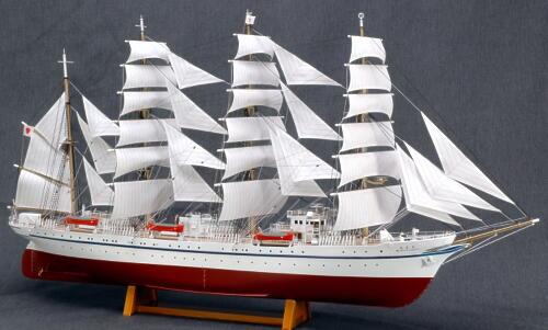 【送料無料】 ウッディジョー 木製帆船模型 1/160 日本丸 帆付き