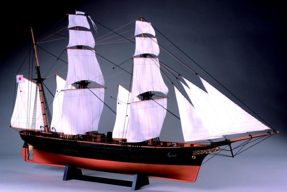 【送料無料】 ウッディジョー 木製帆船模型 1/75 咸臨丸 帆付き