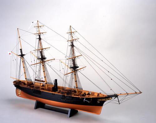 【送料無料】 ウッディジョー 木製帆船模型 1/75 咸臨丸 帆なし