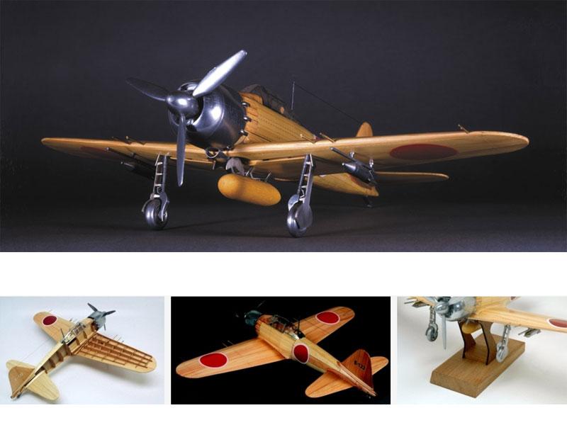 【送料無料】 ウッディジョー 木製模型 1/24 零戦 零式艦上戦闘機 52丙型