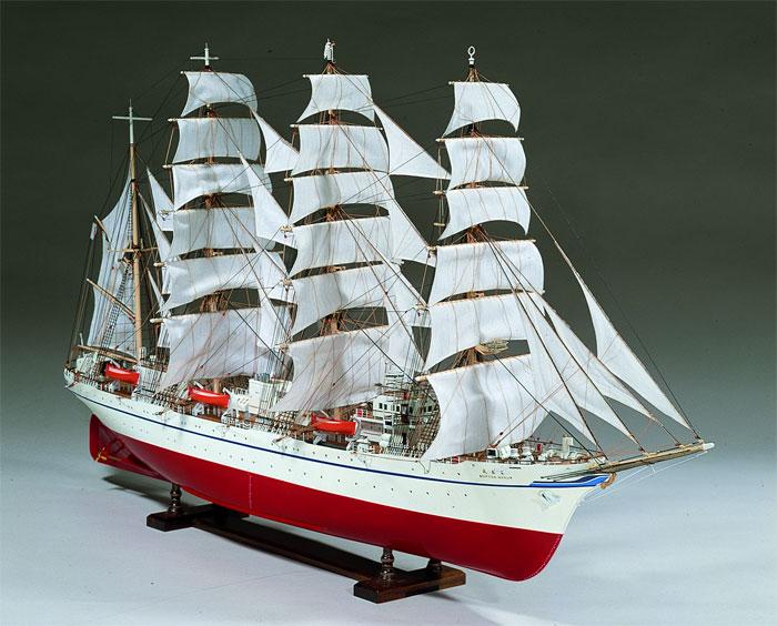 【送料無料】 ウッディジョー 木製帆船模型 1/80 日本丸