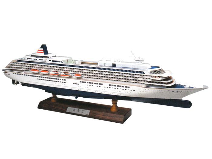 【送料無料】 ウッディジョー 木製客船模型 1/350 飛鳥II