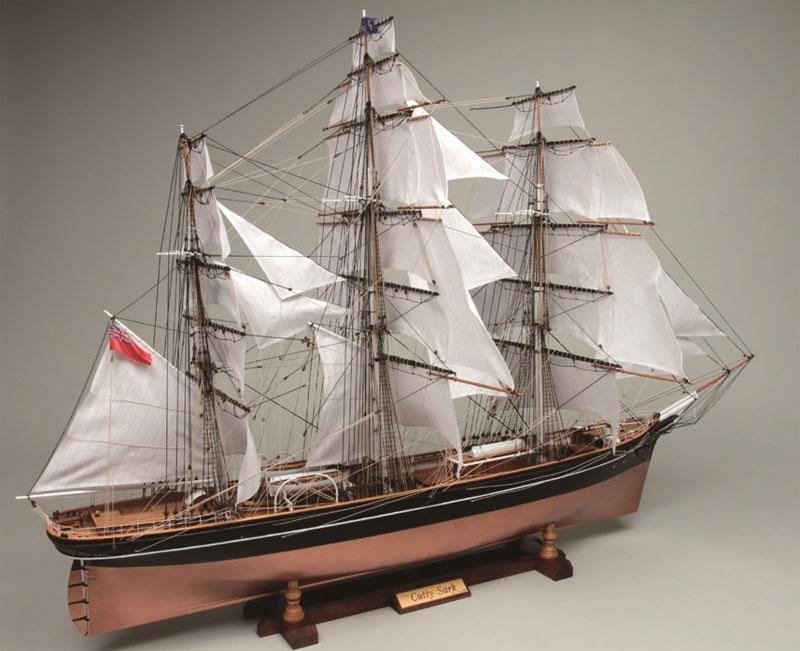 【送料無料】 ウッディジョー 木製帆船模型 1/80 カティーサーク 帆付き