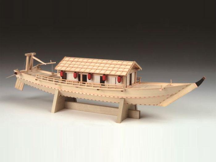 【送料無料】 ウッディジョー 木製船模型 1/24 屋形船