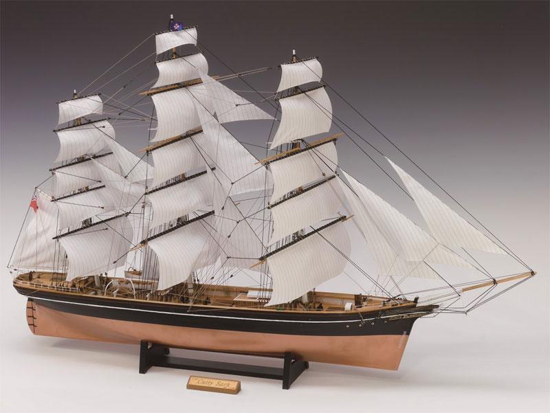 【送料無料】 ウッディジョー 木製帆船模型 1/100 カティサーク 帆付き