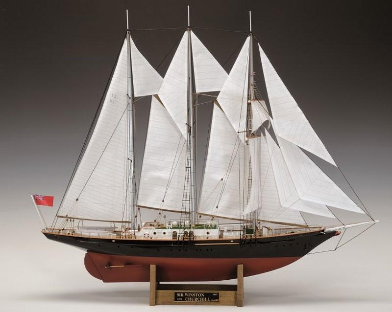 【送料無料】 ウッディジョー 木製帆船模型 1/75 サー・ウィンストン・チャーチル