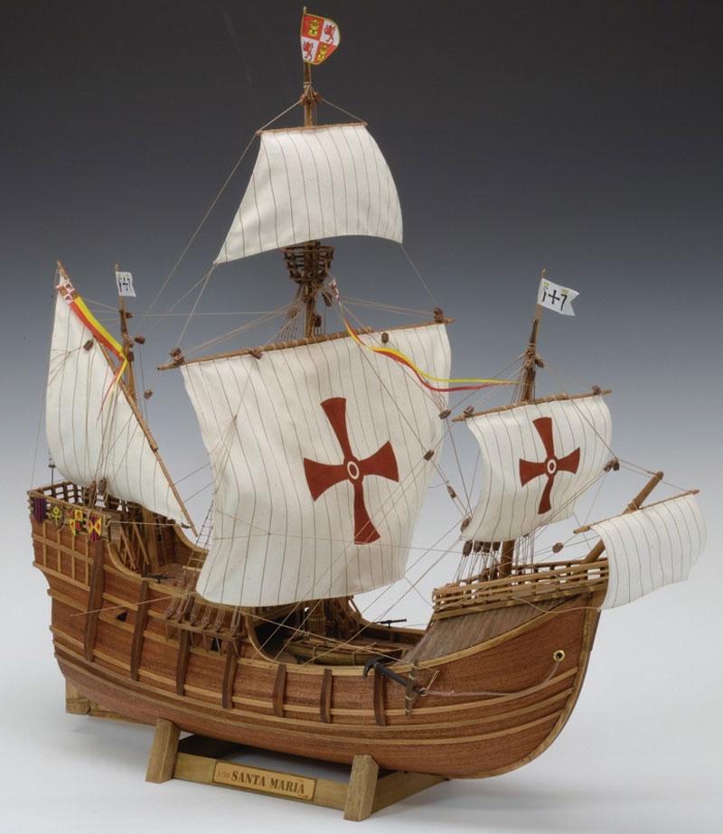 【送料無料】 ウッディジョー 木製帆船模型 1/50 サンタマリア