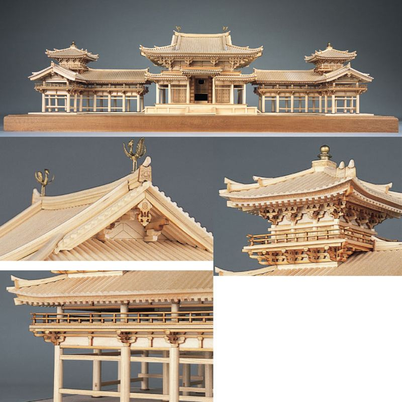 【送料無料】 ウッディジョー 木製建築模型 1/75 平等院鳳凰堂 レーザーカット加工