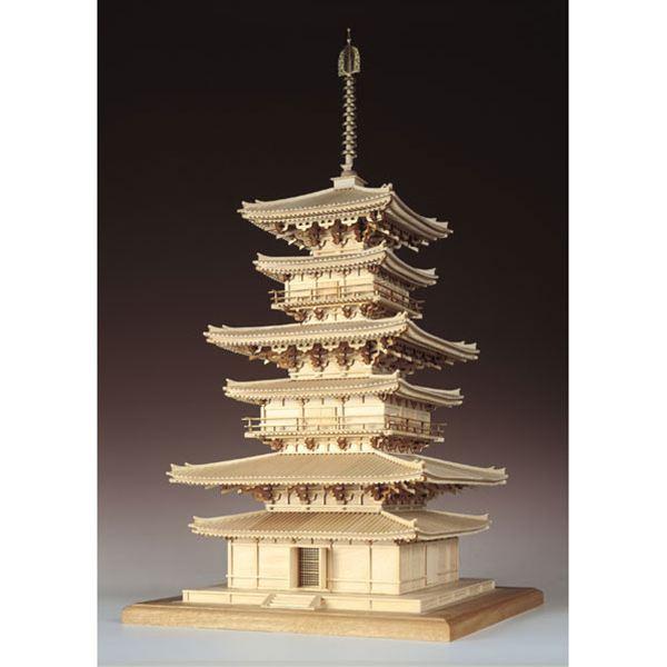 【送料無料】 ウッディジョー 木製建築模型 1/75 薬師寺 東塔 レーザーカット加工