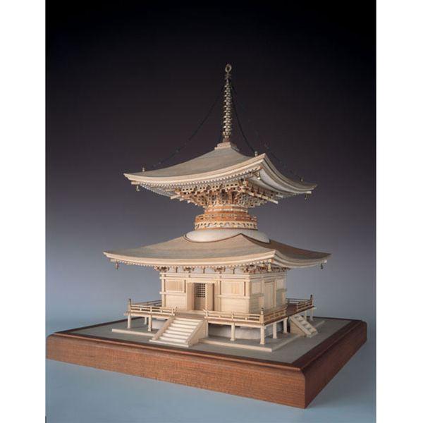 【送料無料】 ウッディジョー 木製建築模型 1/50 石山寺 多宝塔 レーザーカット加工