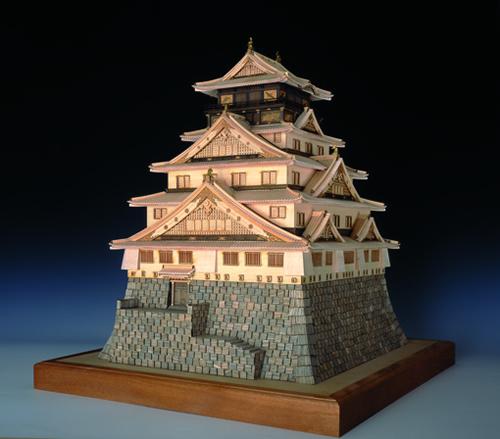 【送料無料】 ウッディジョー 木製建築模型 1/150 大阪城天守閣 レーザーカット加工