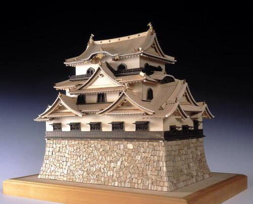 【送料無料】 ウッディジョー 木製建築模型 1/80 彦根城 レーザーカット加工