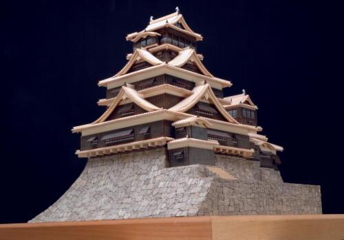 【送料無料】 ウッディジョー 木製建築模型 1/150 熊本城 レーザーカット加工