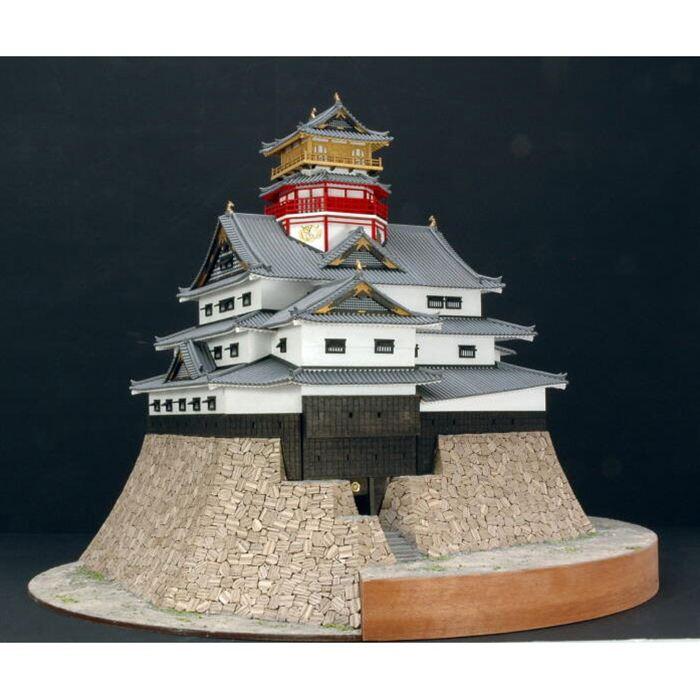【送料無料】 ウッディジョー 木製建築模型 1/150 安土城 レーザーカット加工
