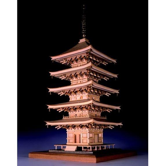 【送料無料】 ウッディジョー 木製建築模型 1/75 瑠璃光寺 五重塔 レーザーカット加工