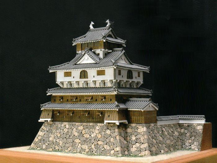 【送料無料】 ウッディジョー 木製建築模型 1/150 岩国城 レーザーカット加工