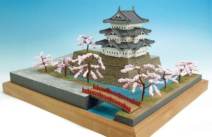 【送料無料】 ウッディジョー 木製建築模型 1/150 弘前城 レーザーカット加工