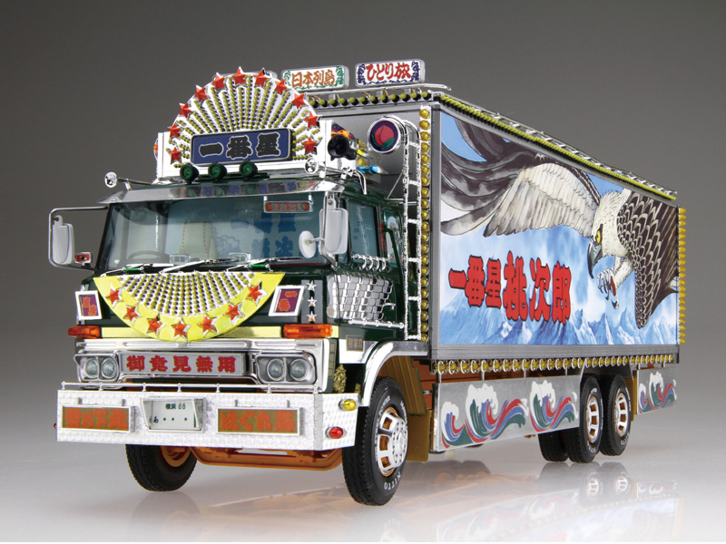 アオシマ プラモデル 1/32 トラック野郎 No.7 一番星 度胸一番星