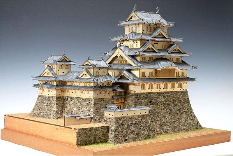 【送料無料】 ウッディジョー 木製模型 1/150 姫路城 改良版