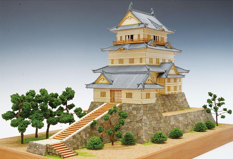 【送料無料】 ウッディジョー 木製建築模型 1/150 小田原城