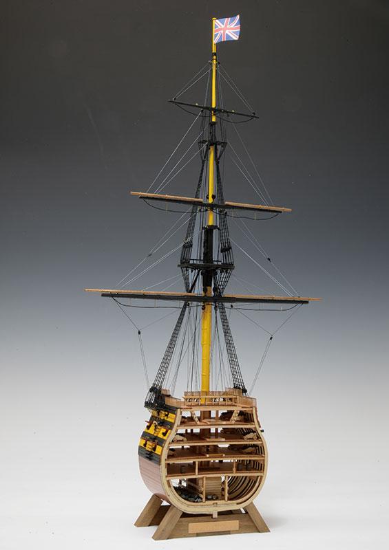 【送料無料】 ウッディジョー 木製帆船模型 1/160 ビクトリー カットモデル 帆無し