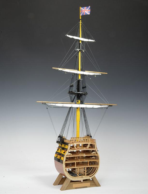 ウッディジョー 1/160 ビクトリー カットモデル 帆付