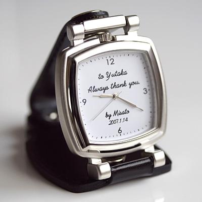 Original clock simple message 'スタンドスクエア' 10P28oct13