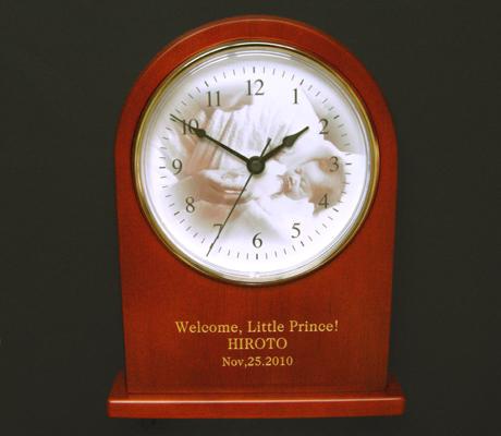 オリジナル時計「思い出写真館」写真タイプ 木製置時計アーチ/ 記念楯 表彰 記念品・贈答品・新築祝い・引越祝い・敬老の日(Respect for the Aged Day)【送料無料】