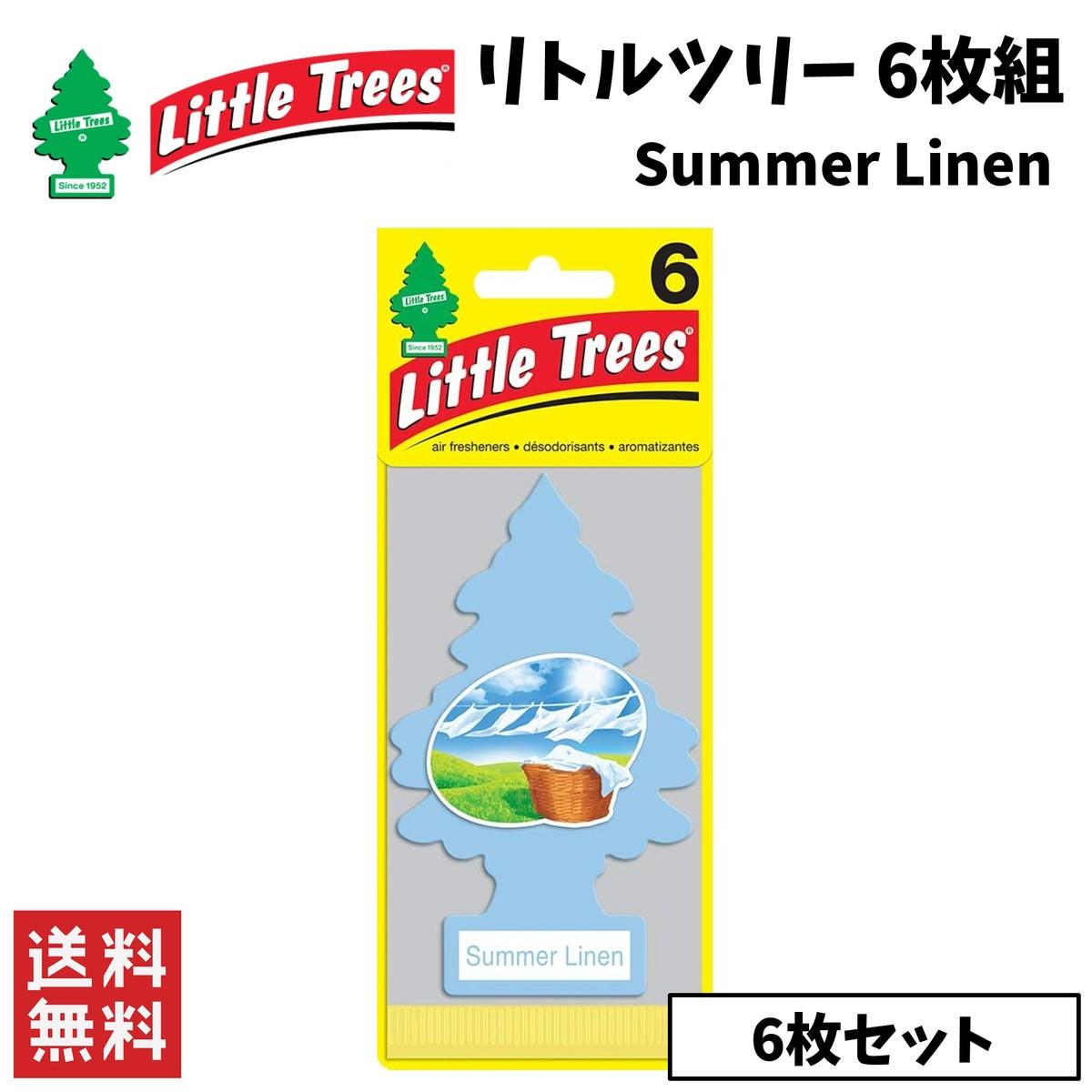 エアフレッシュナー いつでも送料無料 着後レビューで 送料無料 Little Trees リトルツリー カー用品 サマーリネン 6枚組 芳香剤