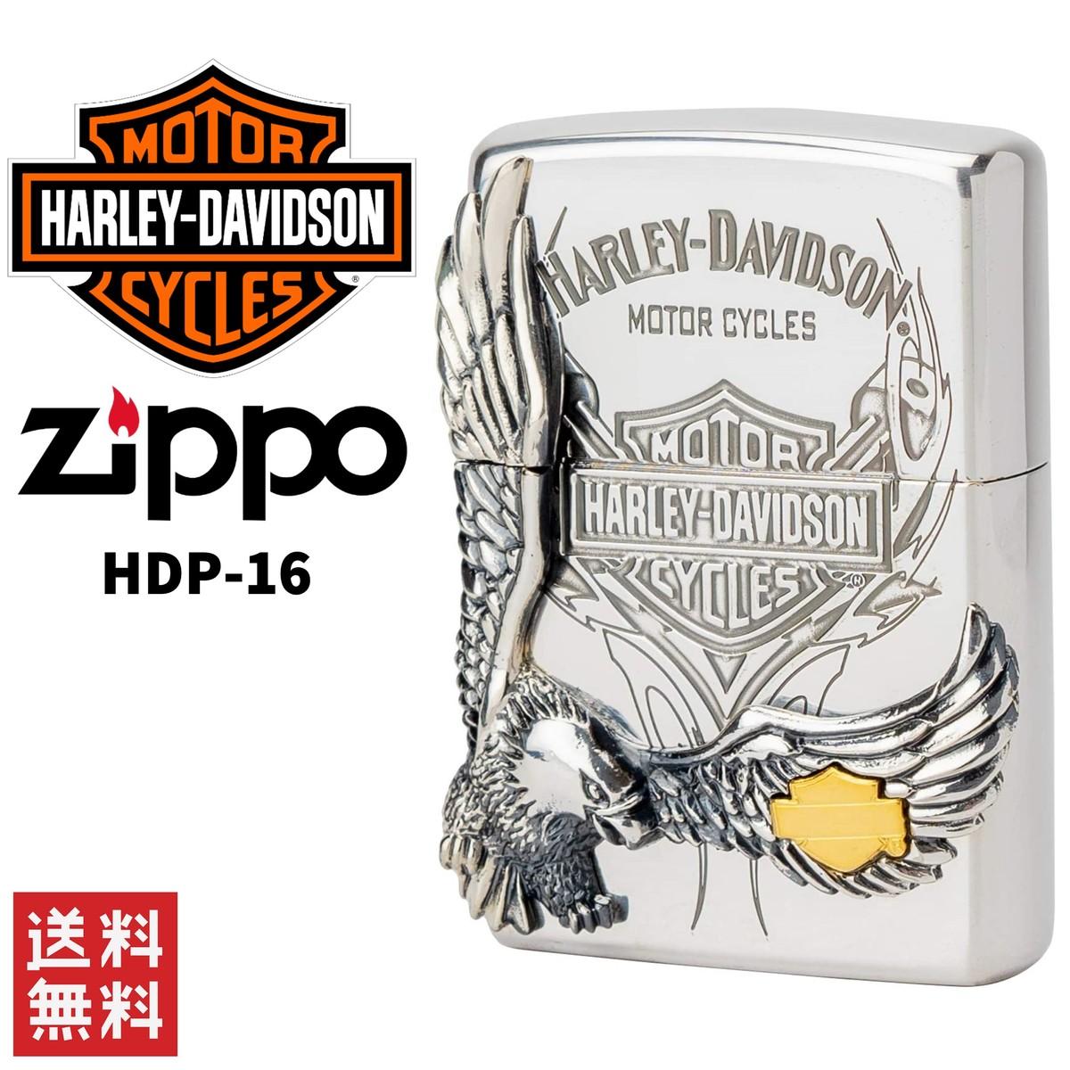 日本限定モデル 送料無料 実物 Harley Davidson ハーレー ダビッドソン 販売実績No.1 ZIPPO 日本限定 ライター シルバー HDP-16 ジッポー 喫煙具