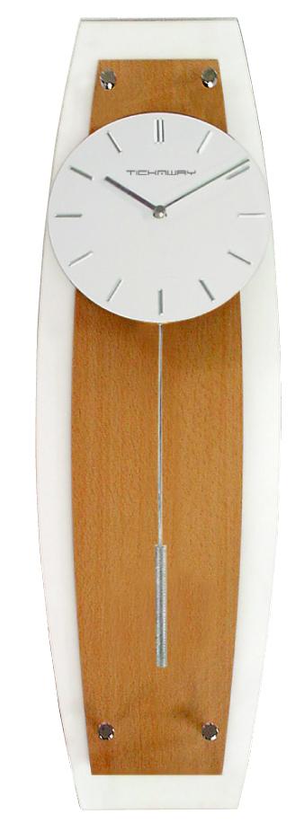 インテリア コンパクトサイズの 振り子時計TF-1051NA ナチュラル