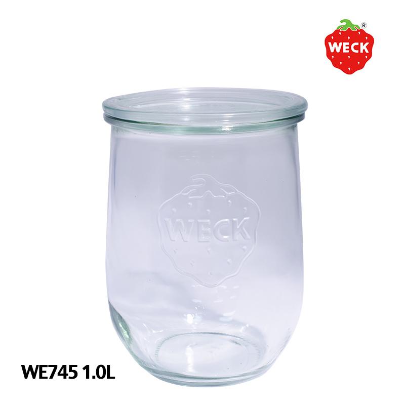 100年の歴史を誇るガラス保存容器 WECK ウェック チューリップ WE745 L 1.0L ガラス保存容器 キャニスター 卓抜 卓抜